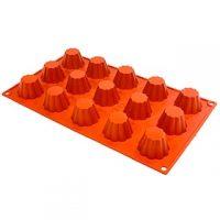 """Mini Bricohe Silicone Mould 1.5x1"""" 15 Cavity"""