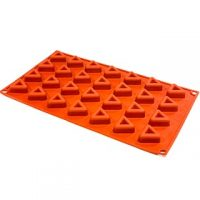 "Triangle Silicone Mould 2.5x1.5"" 28 Cavity"