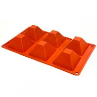 "Pyramid Silicone Mould 2.6x2"" 6 Cavity"