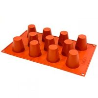 "Dariole Silicone Mould 1.8x1.5"" 11 Cavity"