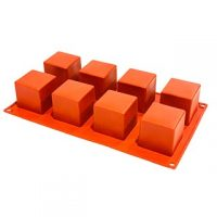 """Sqaure Silicone 2"""" 8 Cavity"""