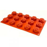 Rose Share Silicone Mould 1.5cm 15 Cavity