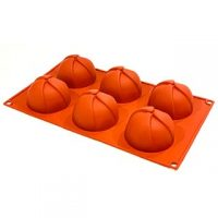 """Round Fancy Design Silicone Mould 2.8x1.9"""" 6 Cavity"""