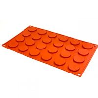 Wafer Shape Silicone Mould 3cm 24 Cavity