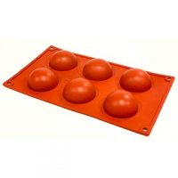 "Hemisphere Silicone Mould  2.5""  6 Cavity Silicone Mould"