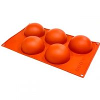 "Hemisphere Silicone Mould 3"" 5 Cavity"