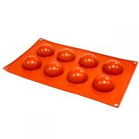 Hemisphere Silicone Mould 2'' 8 Cavity