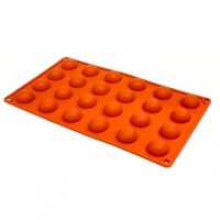Hemisphere Silicone Mould 1' 24 Cavity