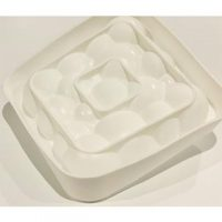 Square Cloud Silicone Mould 18x4cm