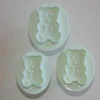 Teddy Bear Plunger Cutter Set of 3