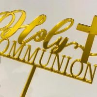 First Holy Communion with Cross - Gold