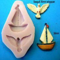 Nautical Seagull & Sailboat