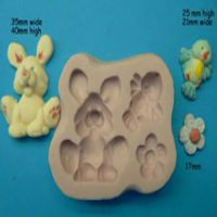 Bunny, Bird and Flower Mould