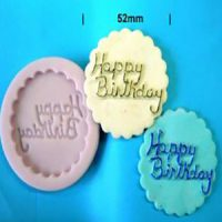Happy Birthday Plaque Mould