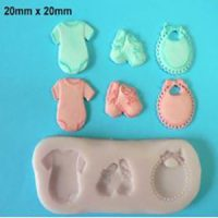 Baby Bib, Shoes and Romper Mould