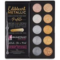 Edibleart Decorating Paint Water Activated Palette Metallic  Set