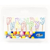 Happy Birthday Candle with toothpick