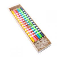 Striped Rainbow Candles 12cm set of 12