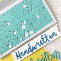 Sweet Stamps - Handwritten Upper & Lower Embosser Set