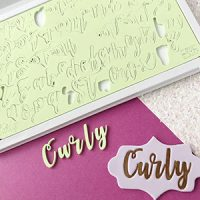 Sweet Stamps - Curly Upper & Lower Embosser Set