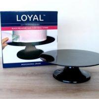 Loyal Black Melamine Cake Turntable / Stand