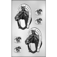 Horse & Horse Shoe Chocolate Mould