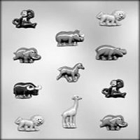 Zoo Animals Small Chocolate Mould