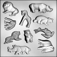 Zoo Animals Large  Chocolate Mould