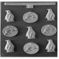 Penguin & Dolphin Chocolate Mould