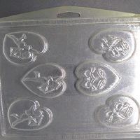 Cupids & Bells in Heart Chocolate Mould