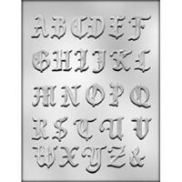 Alphabet Fancy Chocolate Mould