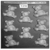 Sitting Teddy Bears Chocolate Mould