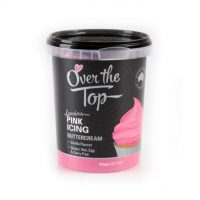Over the Top Butter Icing - Pink Vanilla Flavour 425gm