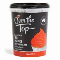 Over the Top Butter Icing - Red Vanilla Flavour 425gm