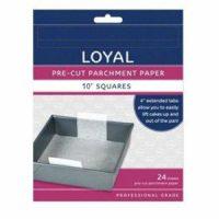 """Loyal Pre-Cut Parchment Paper 10"""" Square"""