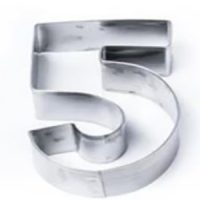 Number 5 Stainless Steel Cookie Cutter