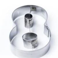 Number 8 Stainless Steel Cookie Cutter
