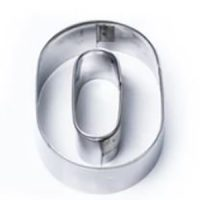 Letter O & No. 0 Stainless Steel Cookie Cutter