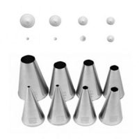 Plain Round Pastry Set of 8